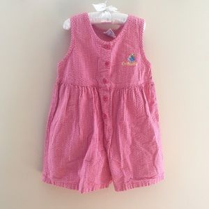 Vintage OshKosh Pink Sleeveless Romper Size 6 USA
